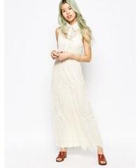 Hazel - Robe longue en dentelle - Blanc