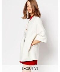 Helene Berman - Veste kimono texturée - Blanc - Blanc
