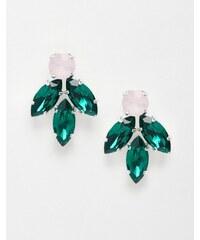 Krystal - Boucles d'oreilles à cristaux Swarovski en grappe - Multi