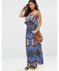 Madam Rage - Trägerloses Kleid mit Festival-Print - Mehrfarbig
