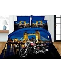 Povlečení MOTORKA 3D TOWER BRIDGE set 4 ks, 140x200 2x povlak 70x80 prostěradlo 160x200 Mybesthome