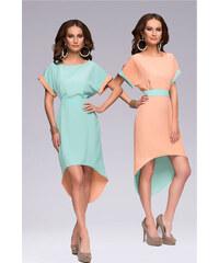 1001šaty praktické asymetrické letní šaty Vivian Mint (2v1!)