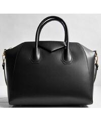 Kožená dámská kabelka Vera Pelle oblázkového tvaru