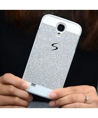 Lesara Glitzer-Schutzhülle für Samsung Galaxy S5/S6 - Silber - Samsung S5