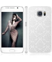 Lesara Hülle mit Ornamenten für Samsung Galaxy S5/S6 - Weiß - Samsung S5