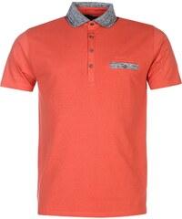 Pierre Cardin Marl Collar Polo Shirt pánské Coral