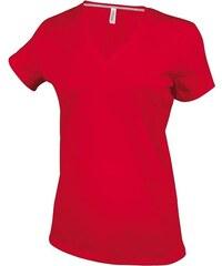 Dámské tričko V-Neck - Červená S