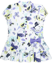 MMDadak Dívčí tunika Butterfly Princess - bílo-fialová