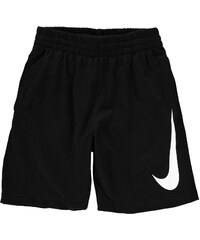 Teplákové kraťasy Nike Jersey dět. černá/bílá