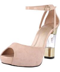 El Dantes Dámské sandály D16182-44_NUDE