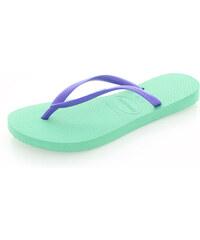 Mátovo-fialové pantofle Havaianas Slim Logo