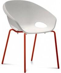 DOMITALIA Srl Globe - Jídelní židle (lak červený, bílá)
