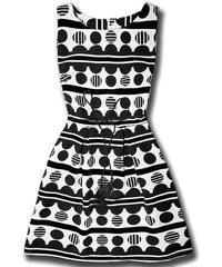 Kleid Ecru/schwarz 1037
