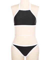 Lesara Bikini mit hochgeschlossenem Oberteil - Schwarz - L