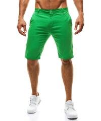 Zelené moderní pánské kraťasy BRUNO LEONI 546
