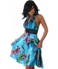 Robe Satin Turquoise JULIETTA - Cendriyon