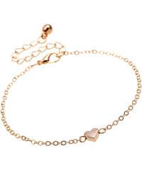 Dámský řetízek chain heart gold tone H022