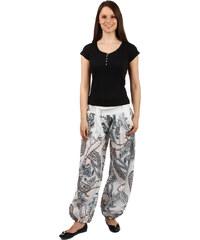 TopMode Pohodlné volné kalhoty se vzorem bílá