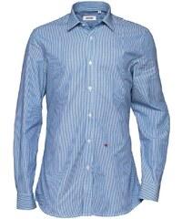 Moschino Herren Formal Smokinghemd Blue/White Stripe