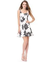 5db873252e7 Ever Pretty luxusní letní šaty bílé s černými květy 5476