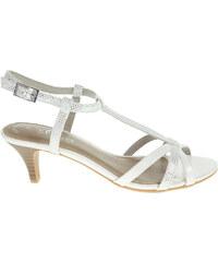 s.Oliver dámské sandály 5-28313-26 bílá-stříbrná