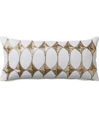 DAY Home Lněný polštář Harlequin White 25x50 cm