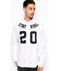 A Question Of - Chemise à imprimé « Stay Real - Blanc
