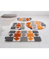 Badematte, 3 tlg. Stand WC-Set, Bruno Banani, »Radasta«, Höhe 20 mm, rutschhemmender Rücken