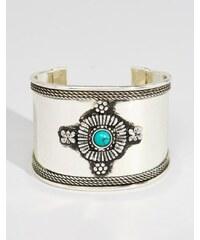 ASOS - Bracelet manchette en pierre décoré - Vert
