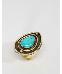 ASOS - Ring mit tränenförmigem Stein - Blau