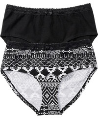 bpc bonprix collection Panty (2er-Pack) in schwarz für Damen von bonprix
