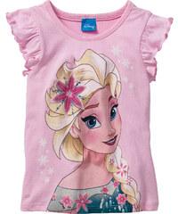 Disney T-Shirt FROZEN, Gr. 80/86-128/134 kurzer Arm in rosa für Mädchen von bonprix