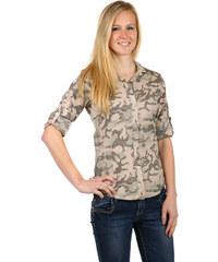 TopMode Stylová pohodlná košile hnědá