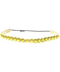 Deepa Gurnani Floral Bead Neon Yellow
