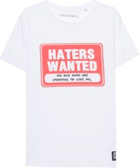 ADDMYBERRY Haters Wanted Tee White