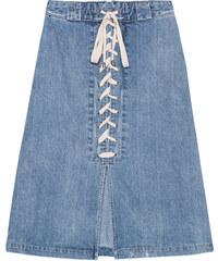 SEA Lace Up Skirt Indigo