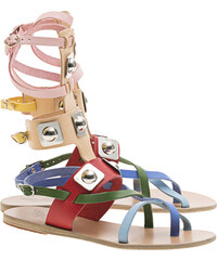 Ancient Greek Sandals Low Gladiator Colorful