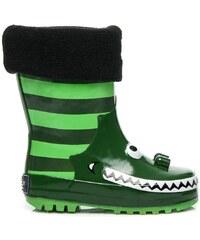AMERICAN CLUB Zelené gumáky zateplené fleecem
