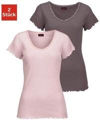 H.I.S Kurzarmshirt Victoria aus elastischer Rippqualität Farb-Set 32/34,36/38,40/42