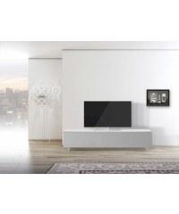 just-racks TV-Lowboard JRL1651S mit stoffbespannter Klappe Breite 165 cm JUST-RACKS weiß