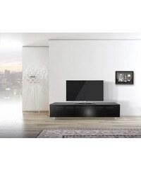 just-racks TV-Lowboard JRL1651S mit stoffbespannter Klappe Breite 165 cm JUST-RACKS schwarz