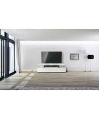 JUST-RACKS just-racks TV-Lowboard JRM1650 mit schwebender Glasplatte Breite 165 cm weiß