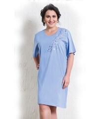 Vienetta Secret Bavlněná noční košile pro plnoštihlé Alda modrá