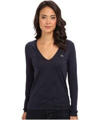 Lacoste LACOSTE dámské tričko dlouhý rukáv Long Sleeve Cotton
