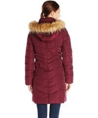 Tommy Hilfiger dámský kabát Long Chevron-Quilted