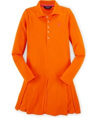 Ralph Lauren dívčí šaty Pleated Stretch Polo