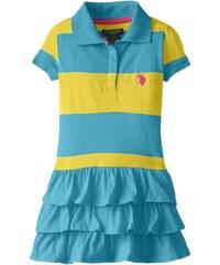 U.S. Polo Assn. oblečení pro dívky Ruffled Striped Polo Dress
