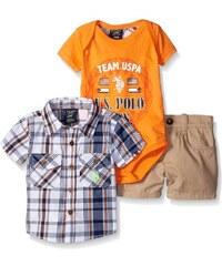 U.S. Polo Assn. oblečení pro miminko 3 Piece Plaid