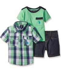 U.S. Polo Assn. oblečení pro miminko 3 Piece Plaid Short