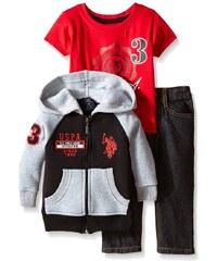 U.S. Polo Assn. oblečení pro chlapce 3 Piece Fleece Hoodie
